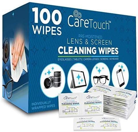 Toallas húmedas para limpiar pantallas cel tab lentes 100 U