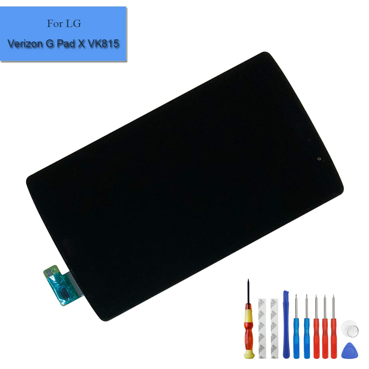for LG Verizon G Pad X 8.3 VK815 Replacement LCD Touch Screen Display Digitizer Full Assembly Parts with Frame + Adhesive + Tools