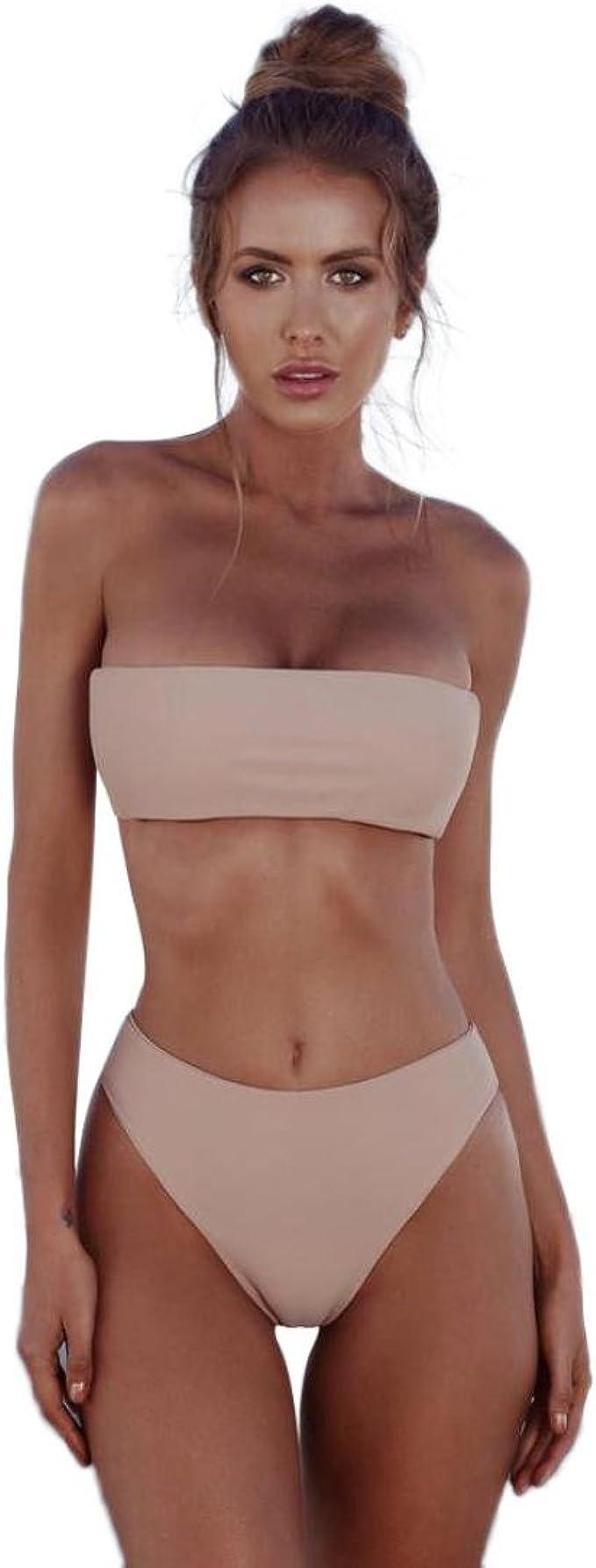 URSING/_Damen Bandeau Bikini Set Push-Up Brasilianisch Zweiteiliger Badeanzug Sport Bademode Beachwear Swimsuit Badebekleidung Schwimmanzug Mode Sommer Strand Swimsuit Swimwear