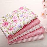 40*50CM Sweet Pink Printed Cotton Fabric Bundle Patchwork Sewing Baby Toy Material Quilting Bedding
