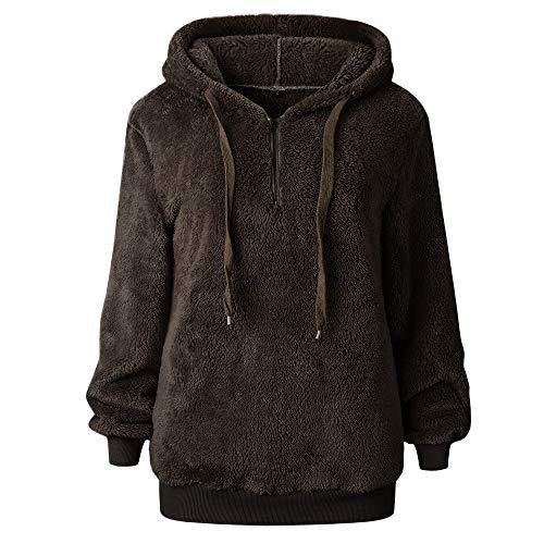 iLUGU Hooded Long Sleeve Coat for Women 1/2