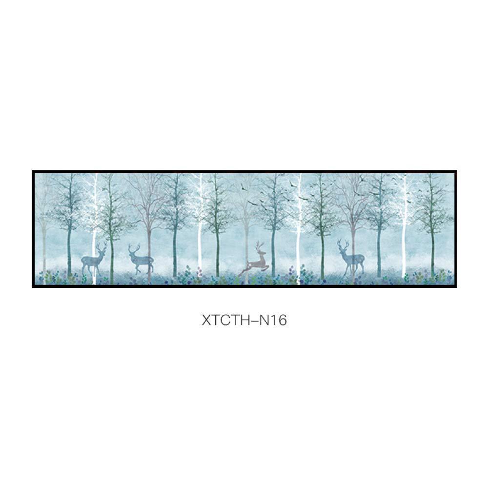 SED Elk Modern Paintings, Simple Animal Plants Abstract Decorative Painting, Pattern Creative Aesthetic Style Bedroom Inkjet Bedside Painting,C,35135cm by SED
