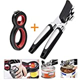 Can Opener Manual 6-in-1 Multi-Function Combination jar Opener 2 Piece Set FDA Strong