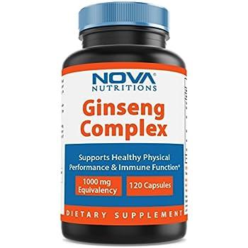 Nova Nutritions Ginseng Complex 1000 mg 120 Capsules
