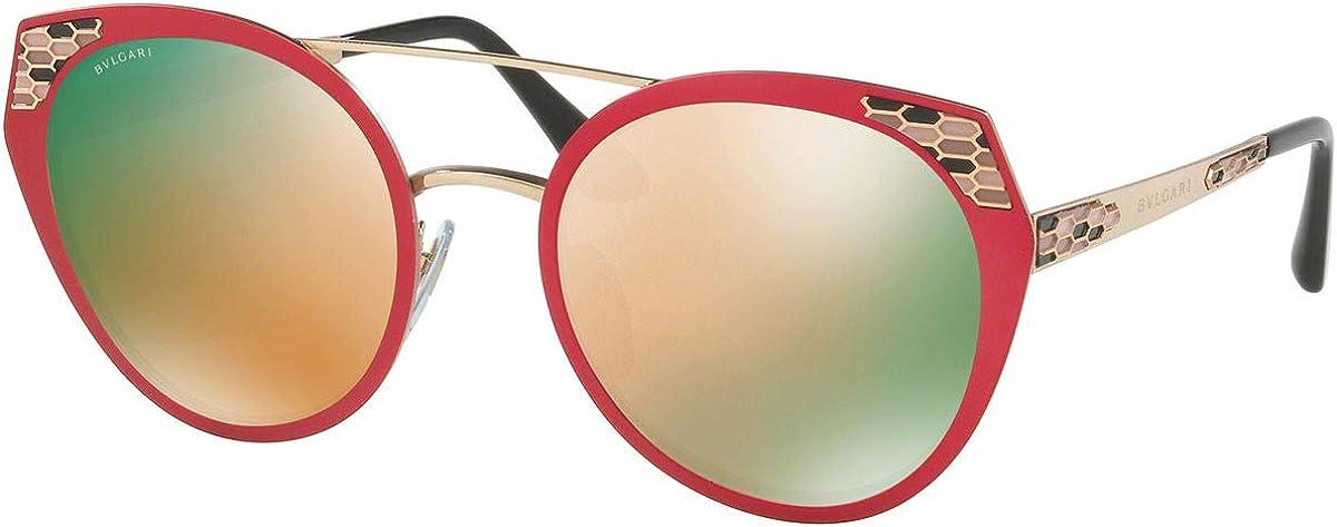 Bulgari BV6095 gafas de sol w/Gris Espejo de oro rosa de 53 mm de la lente 20274Z BV 6095 mujer Rosa semi mate Grande: Amazon.es: Ropa y accesorios