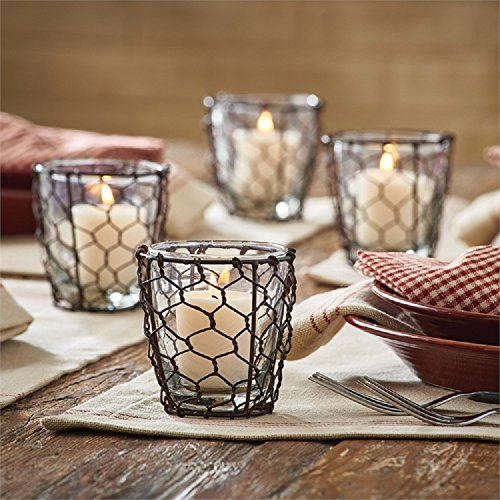 Park Designs Chicken Wire Votive 3.25 Inches x 3 Inches Diameter Metal Holder Home Decor from Park Designs