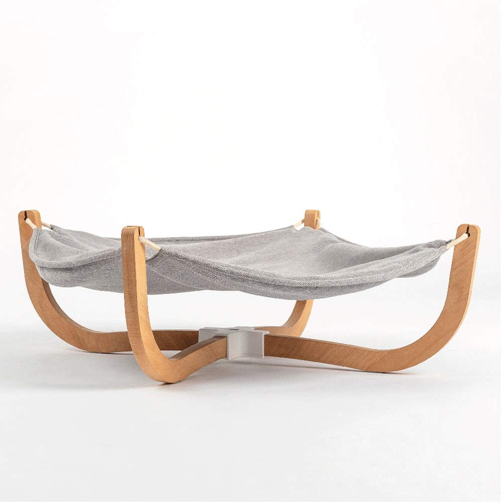 HTMAL Bracket Pet Nest Cat's Nest U-shaped Support Nest Pet's Nest Solid Wood Cat Hammock Cat Bed Is Universal And Easy To Accept In All Seasons