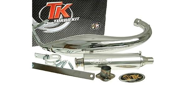 Turbo Kit Carreras 50 cromo Tubo de escape para Derbi Senda Drd 50, Gilera Rcr Enduro 50, RCR/SMT 50, SMT SM 50: Amazon.es: Coche y moto