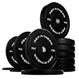 Cheap Rep Bumper Plates for Strength and Conditioning Workouts and Weightlifting 370 lb Set