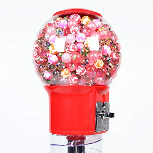 Spiral Gumball Machine Lil Wizard 27 inch - set up for $0.25 - Gumballs 1 inch - Toys in Round Capsules - 1'' Bouncy Balls 25 mm - Red Vending Gum Machine - Great Gift for Kids by Global Gumball (Image #6)