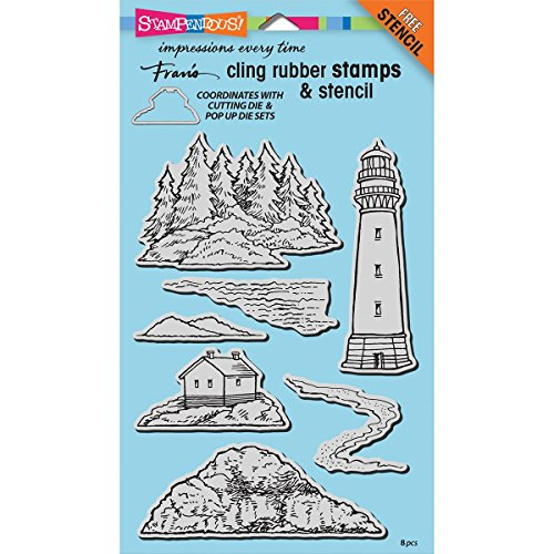 Halloween Up Cards Pop Homemade (Stampendous CRS5098 Rubber Stamp Set, Build a Lighthouse W/Template Stamp Set Build Lighthouse)
