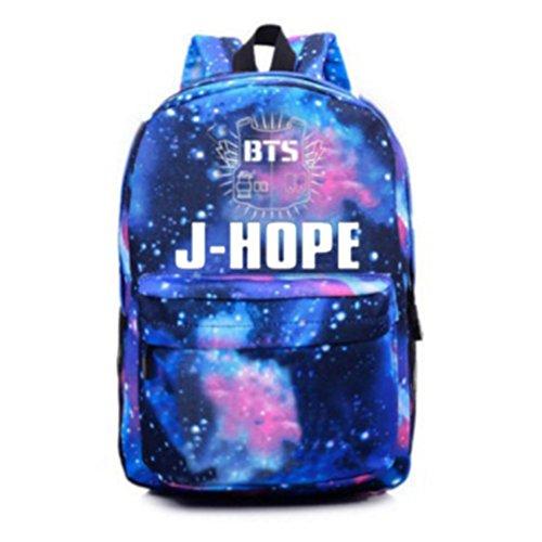 Sports Satchel Starry Canvas Schoolbag Sky Boys Bangtan BTS Bags hope Backpack J KPOP Unisex Skisneostype 0gzPqP