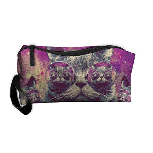 Storage Bags Toiletry Bag Clutch Bag Lady's Companion Funny Sunglasses Cat Is In The Glasses Small Cosmetic Bag With - Vuitton Sunglasses Ladies Louis