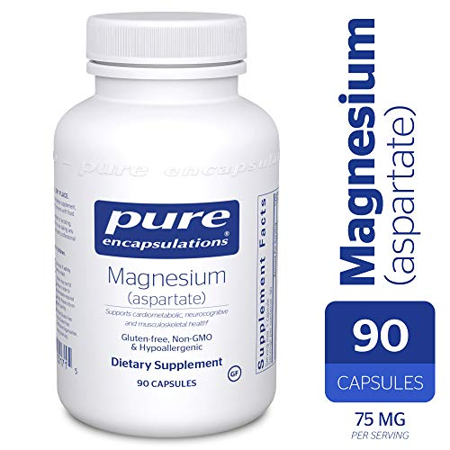 Pure Encapsulations - Magnesium (Aspartate) - Hypoallergenic Supplement Supports Nutrient Utilization and Physiological Functions* - 90 -