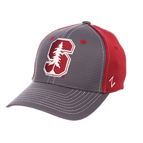 ZHATS NCAA Stanford Cardinal Children Boys Grid Cap, Youth, Gray/Team Color