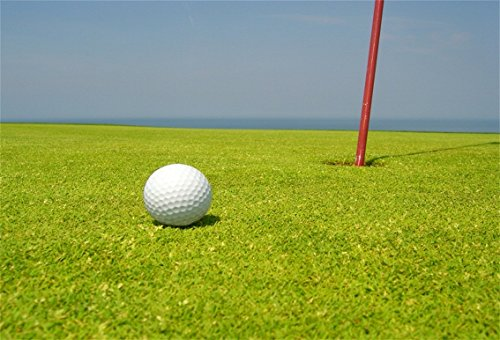 CSFOTO 5x3ft Background for Golf Course Photography Backdrop Horizon Golfball Grassland Meadow Hole Relax Play Game Outdoors Rest Sport Leisurely Holiday Tour Photo Studio Props Wallpaper