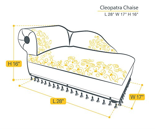 Cleopatra chaise elegant gold pet bed price reviews for Chaise cleopatra