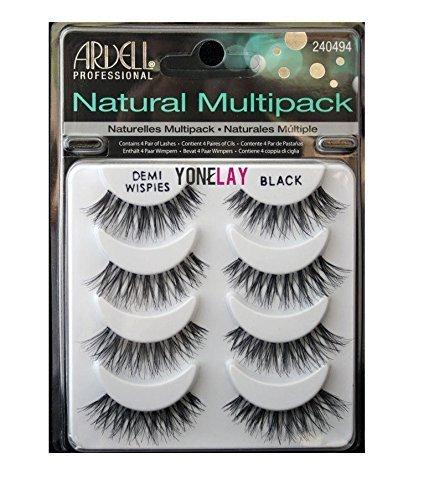 THE Best 4 Pairs Ardell Demi Wispies Natural Multipack False Eyelashes Fake Eye Lashes