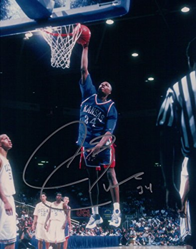 Paul Pierce Signed Autographed 8X10 Photo Kansas Jayhawks In Air Dunk w/COA