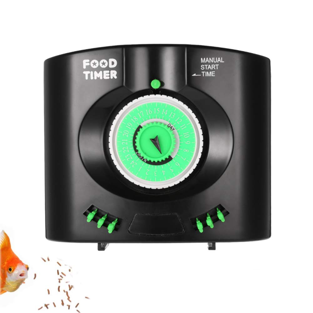 PJDDP Automatic Fish Feeder Aquarium Fish Feeder Vacation Fish Food Dispenser Aquarium Tank Feeding Timer Battery-Operated for Weekend Holiday by PJDDP