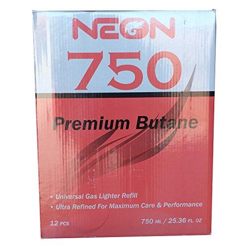 Neon Butane - 11x Ultra Refined 750ml Universal Gas Lighter Refill - Near Zero Impurity - 48 Cans by Neon Butane (Image #2)