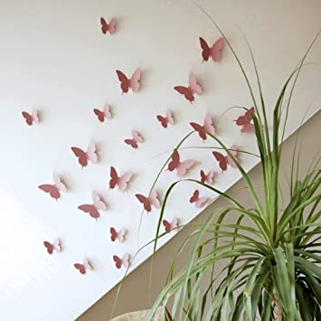 Your Design Deko Schmetterlinge Rosa - 3D Wandtattoo - 12 Stk ...