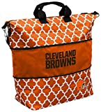 Logo Brands NFL Cleveland Browns Quatrefoil Expandable Tote, Undefined-See Creative, One Size