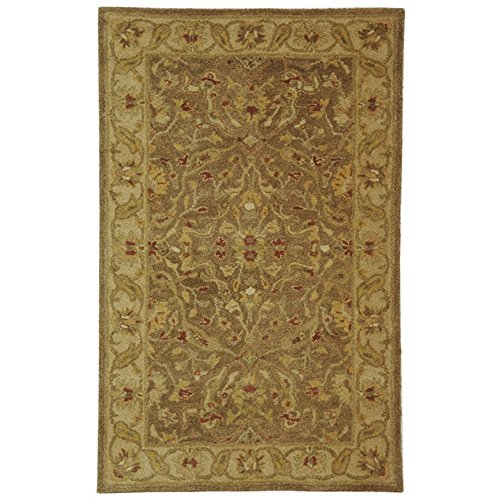 (Safavieh Antiquities Collection AT311A Handmade Traditional Oriental Brown and Gold Wool Area Rug (3' x 5'))