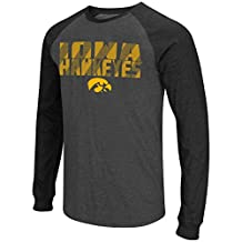 "Iowa Hawkeyes NCAA ""Olympus"" Long Sleeve Raglan Shirt - Charcoal"