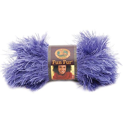 Lion Brand Yarn 320-191 Fun Fur Yarn, Violet ()