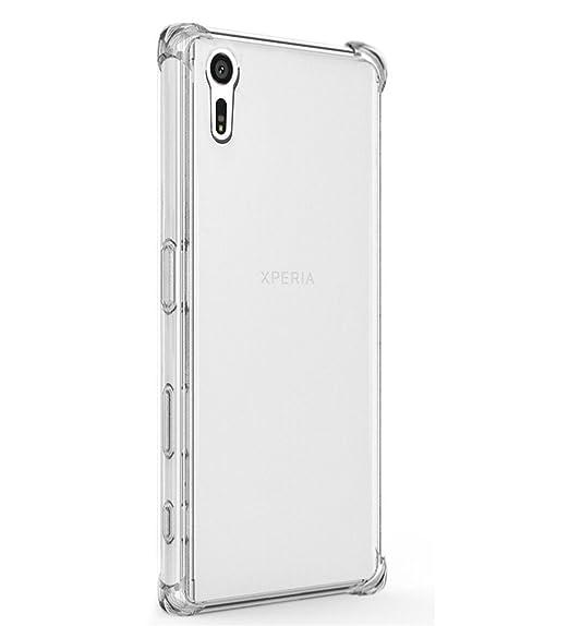 new arrival ae397 b301e Amazon.com: TIYA Case Clear for Sony Xperia XA1 TPU Four Corners ...