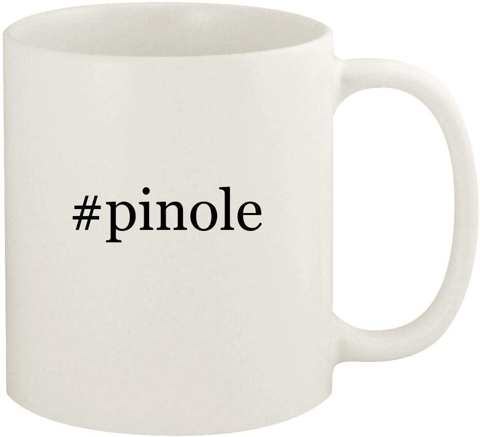 #pinole - 11oz Hashtag Ceramic White Coffee Mug Cup, White