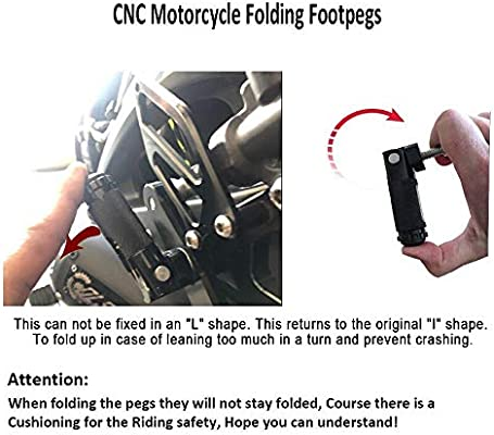 CNC Universal Motorcycle Foldable Footrests Footpeg Pedals Rearset Foot pegs US