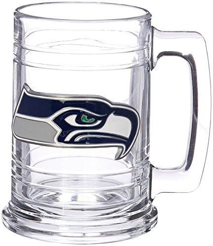 NFL Seattle Seahawks Two Piece 15-Ounce Glass Tankard Set - Primary Logo ()
