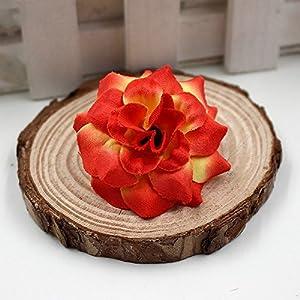 40pcs/lot 4cm Handmade Mini Artificial Silk Rose Flowers Heads DIY Scrapbooking Flower Kiss Ball For Wedding Decorative 5