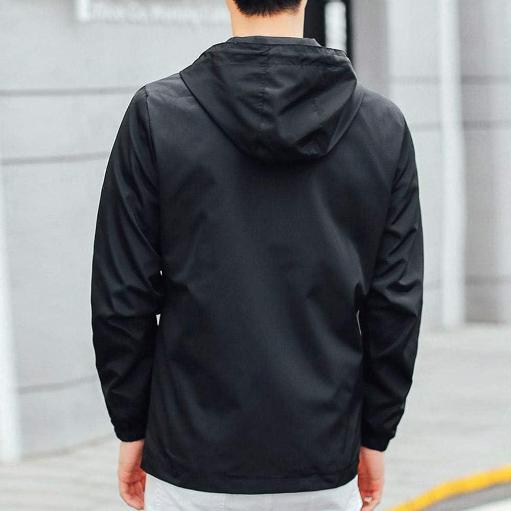 Men Solid Winter Hooded Soft Shell Waterproof Windproof Outdoor Zipper Coat
