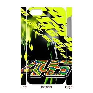Valentino Rossi 46 For iPhone 4 4S 3D Custom Cell Phone Case Cover 99II918734