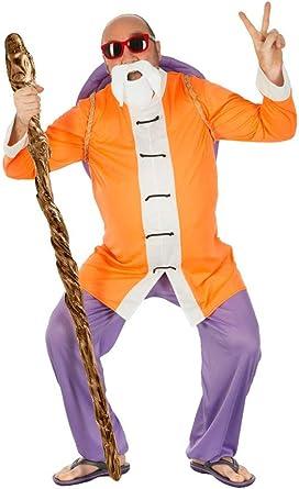 Dragon Ball Disfraz Muten Roshi 4pcs Naranja Morado - L: Amazon ...