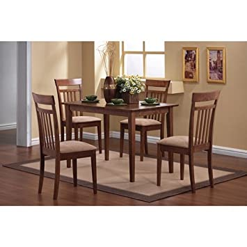 Bon Home Madison Cherry 5 Piece Dining Set Table And Four Chairs