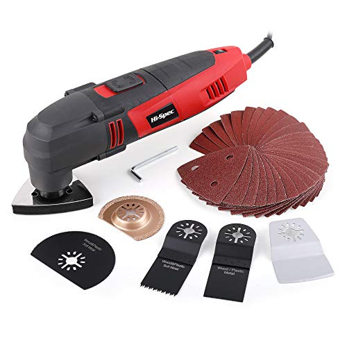 Hi-Spec 220W Power Oscillating Multi Tool with Variable Speed,...