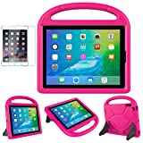 iPad 2/3/4 Kid-Proof Case - SUPLIK Durable Shockproof Protective Handle Bumper Stand Cover with Screen Protector for iPad 2nd,3rd,4th Generation(Old Models), Pink