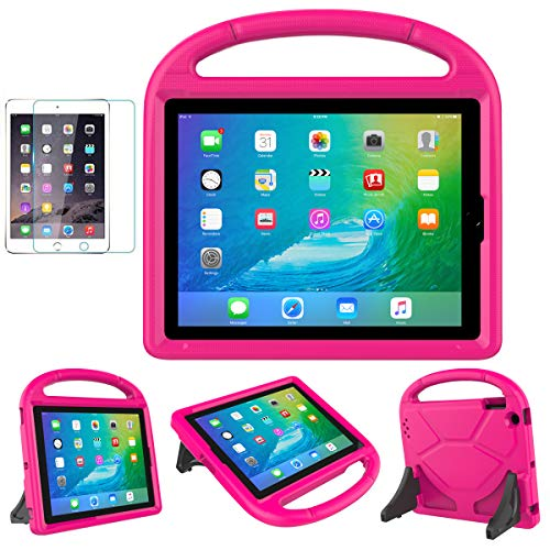 iPad 2/3/4(Old Model) Case for Kids - SUPLIK Durable Shockproof Protective Handle Bumper Stand Cover with Screen Protector for Apple iPad 2nd,3rd,4th Generation, Pink (Cover Tablet Ipad 3)