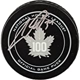 Auston Matthews Toronto Maple Leafs Autographed 100th Anniversary Season Official Game Puck - Fanatics Authentic Certified
