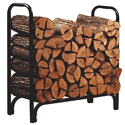 Ainfox 4ft Outdoor Heavy Duty Steel Firewood Log Rack Wood Storage Holder Only