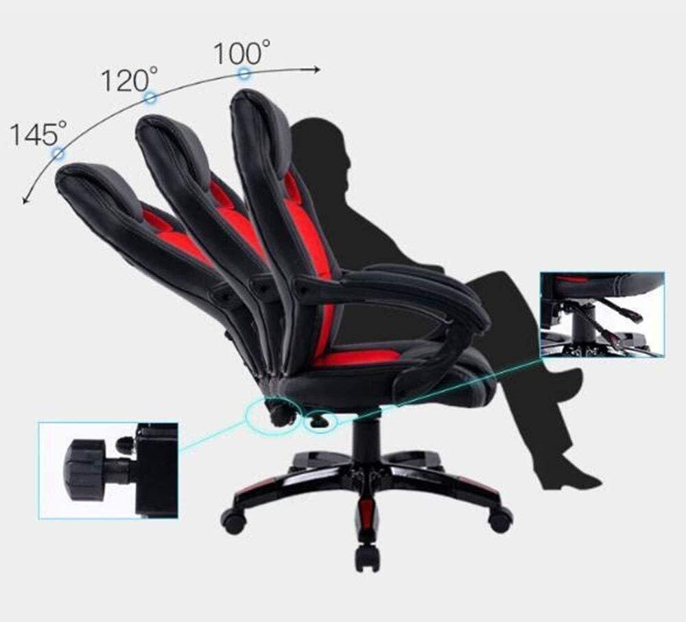 DBL spelstol hög rygg kontorsstol skrivbord stol racerstol liggande stol datorstol svängbar stol PC stol lämplig för hem kontor skrivbordsstolar (färg: Orange svart) Orange Black