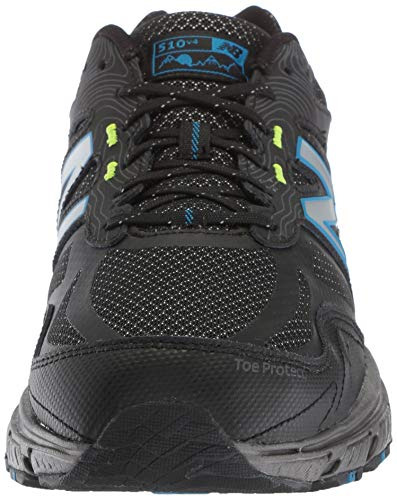 New Balance Men's 510v4 Cushioning Trail Running Shoe, Magnet/Black/Reflective, 7.5 D US by New Balance (Image #4)