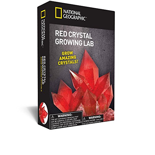 - NATIONAL GEOGRAPHIC Red Crystal Growing Lab – DIY Crystal Creation - Includes Real Aragonite Crystal Specimen