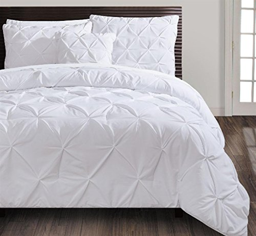 VCNY Home Carmen Comforter Set King White 4 Piece