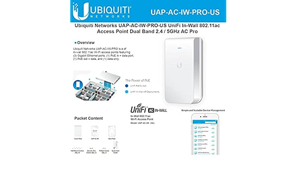 Amazon com: Access Point UniFi In-Wall Dual Band UAP-AC-IW