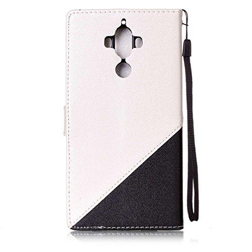 Ultra Slim Case para Huawei Mate 9 Funda Libro Suave - Sunroyal ® PU Leather Cuero Huawei Mate 9 Bookstyle Cobertura Wallet Case Con Flip Cover Cierre Magnético,Función de Soporte Billetera con Tapa p A-02